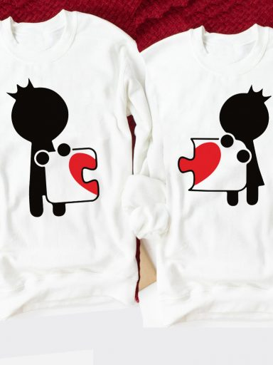 Bluzy dla par Love Puzzle Black Love&Live (zdjęcie 10)