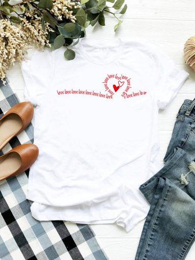 T-shirt biały Many love Love&Live (zdjęcie 2)