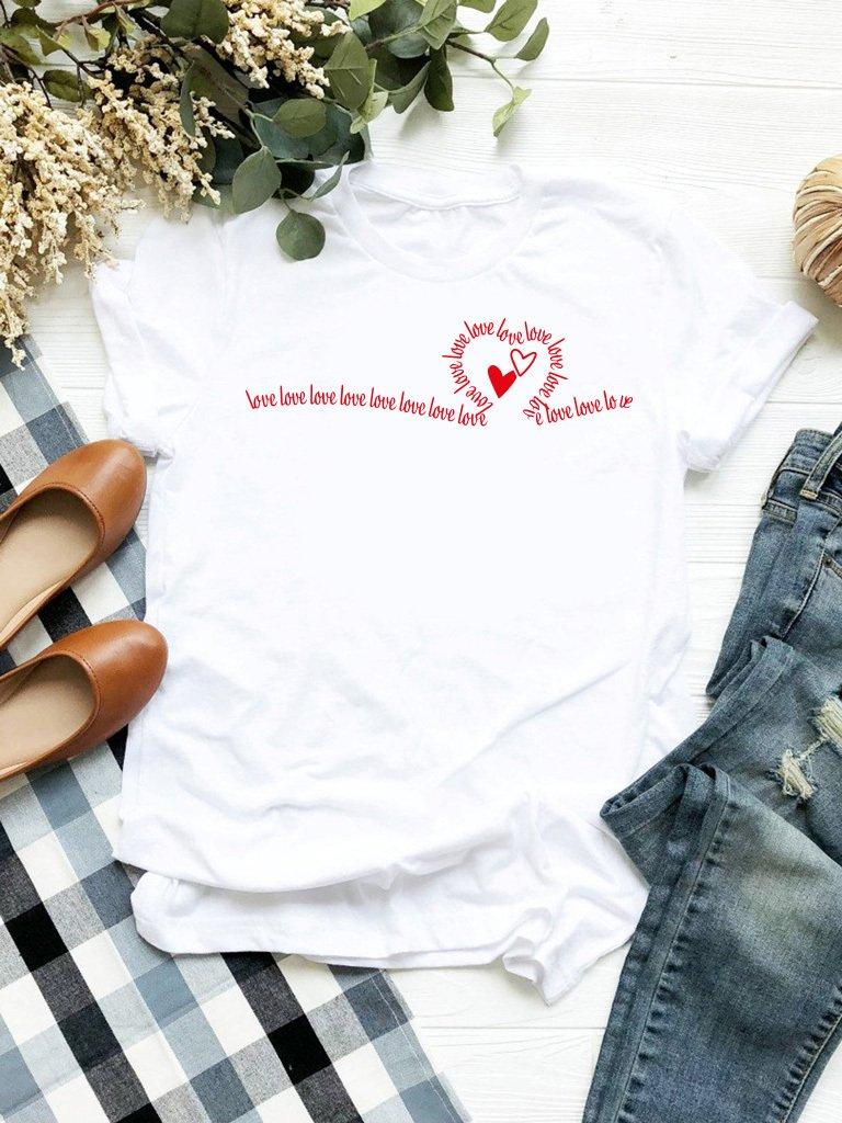 T-shirt biały Many love Love&Live
