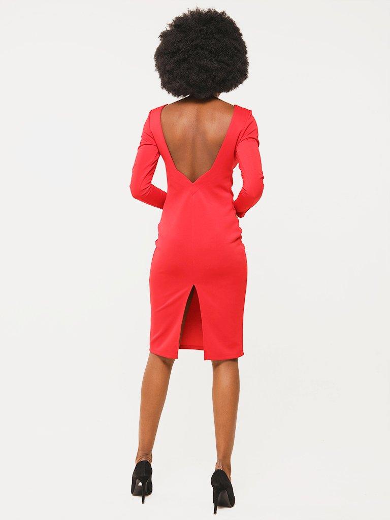 Sukienka w kolorze czerwonym z odkrytymi plecami Katarina Ivanenko