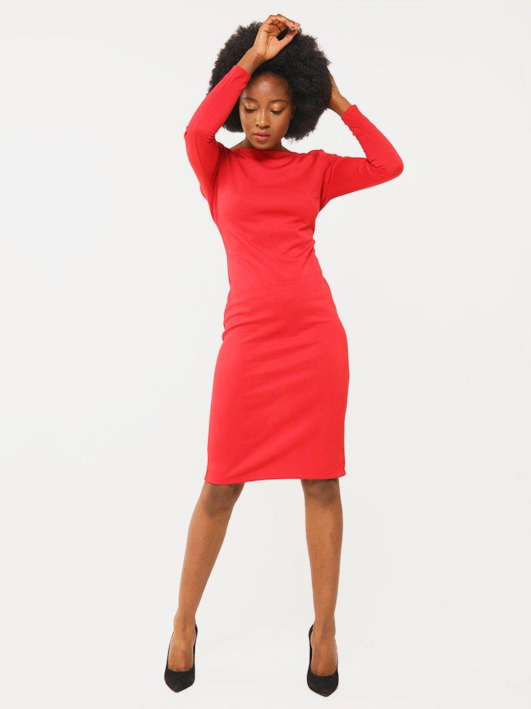 Sukienka w kolorze czerwonym z odkrytymi plecami Katarina Ivanenko (zdjęcie 2)