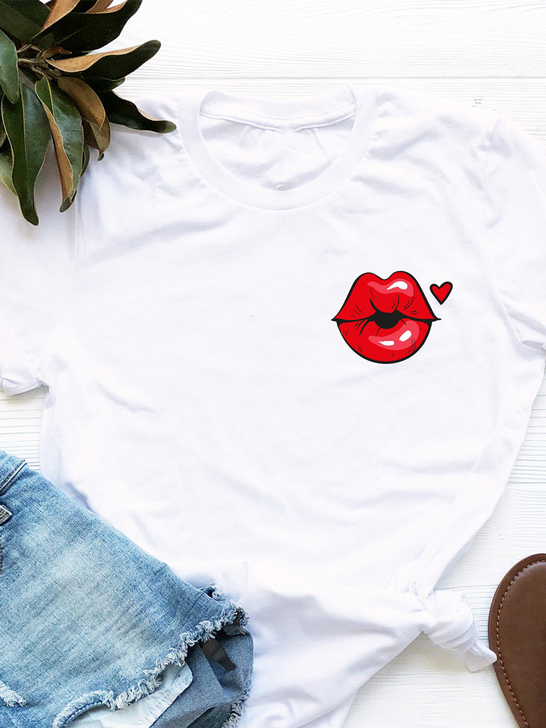 T-shirt biały Czerwone Usta Love&Live