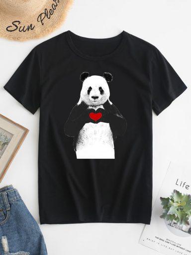 T-shirt męski czarny Trzymaj Serce Love&Live