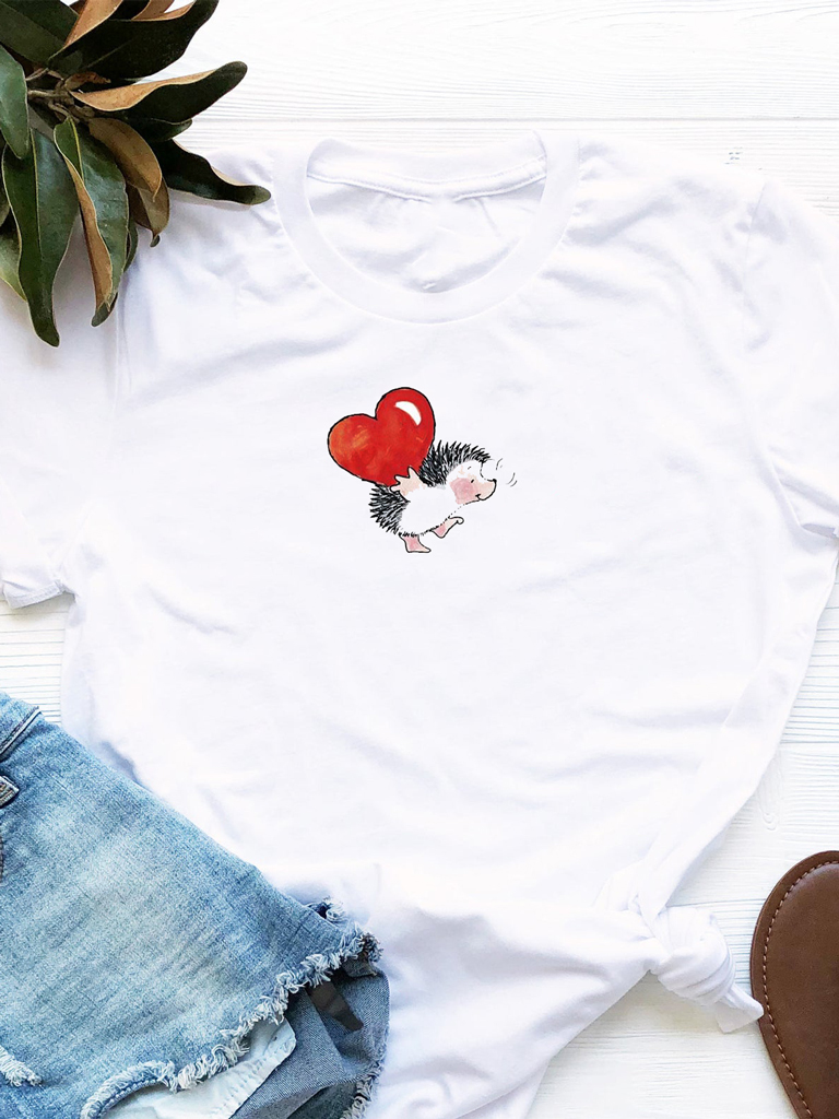 T-shirt biały Niosę Miłość Love&Live