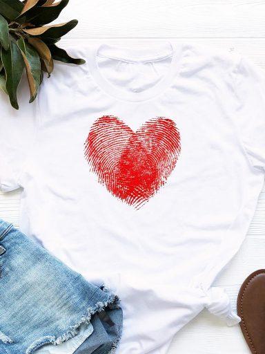 T-shirt biały Odcisk Miłości Love&Live