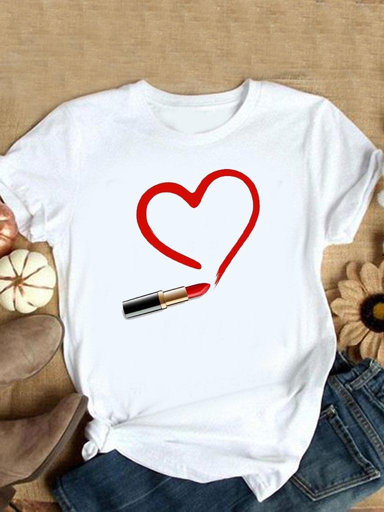 T-shirt biały Rysuję Miłość LOVE&LIVE
