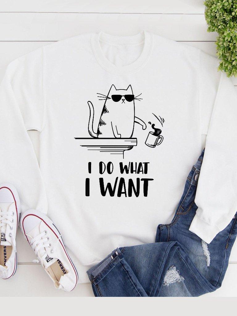 Bluza w kolorze białym I Do What I Want Katarina Ivanenko