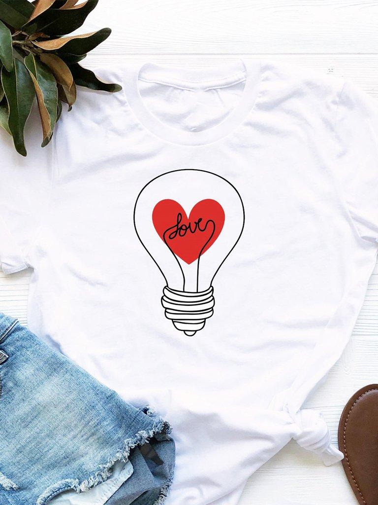 T-shirt biały Światło Mojej Miłości Love&Live