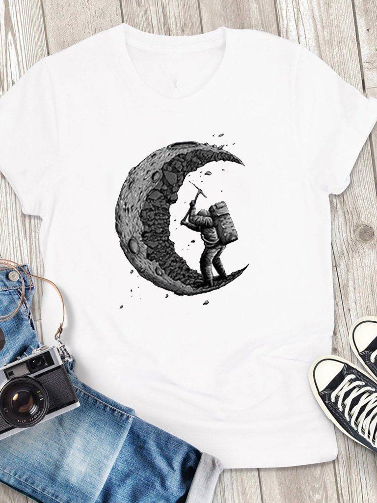 T-shirt męski biały Stara Się Love&Live