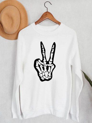Bluza męska w kolorze białym V Love&Live