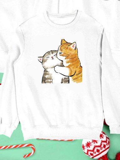 Bluza biała dla dzieci Czułość Kotków Love&Live