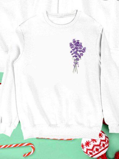Bluza biała dla dzieci Lawenda Love&Live