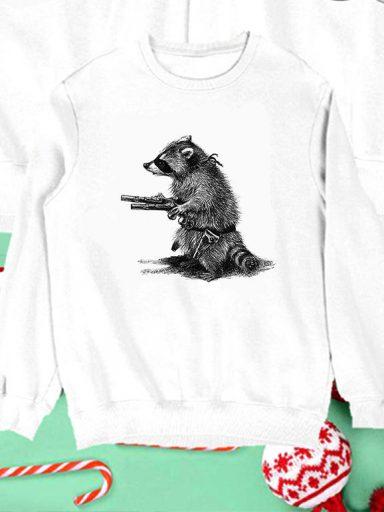 Bluza biała dla dzieci Uzbrojony i Niebezpieczny Love&Live