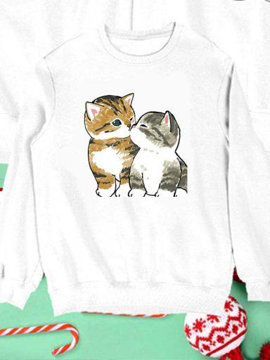 Bluza biała dla dzieci Buziaczek Love&Live