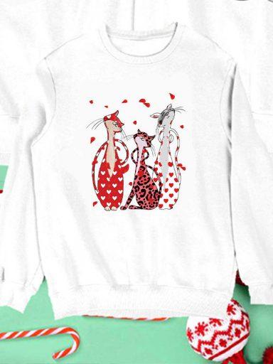 Bluza biała dla dzieci Love My Cats Love&Live