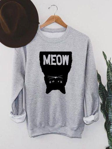 Bluza męska w kolorze szarym Black Meow Love&Live (zdjęcie 16)