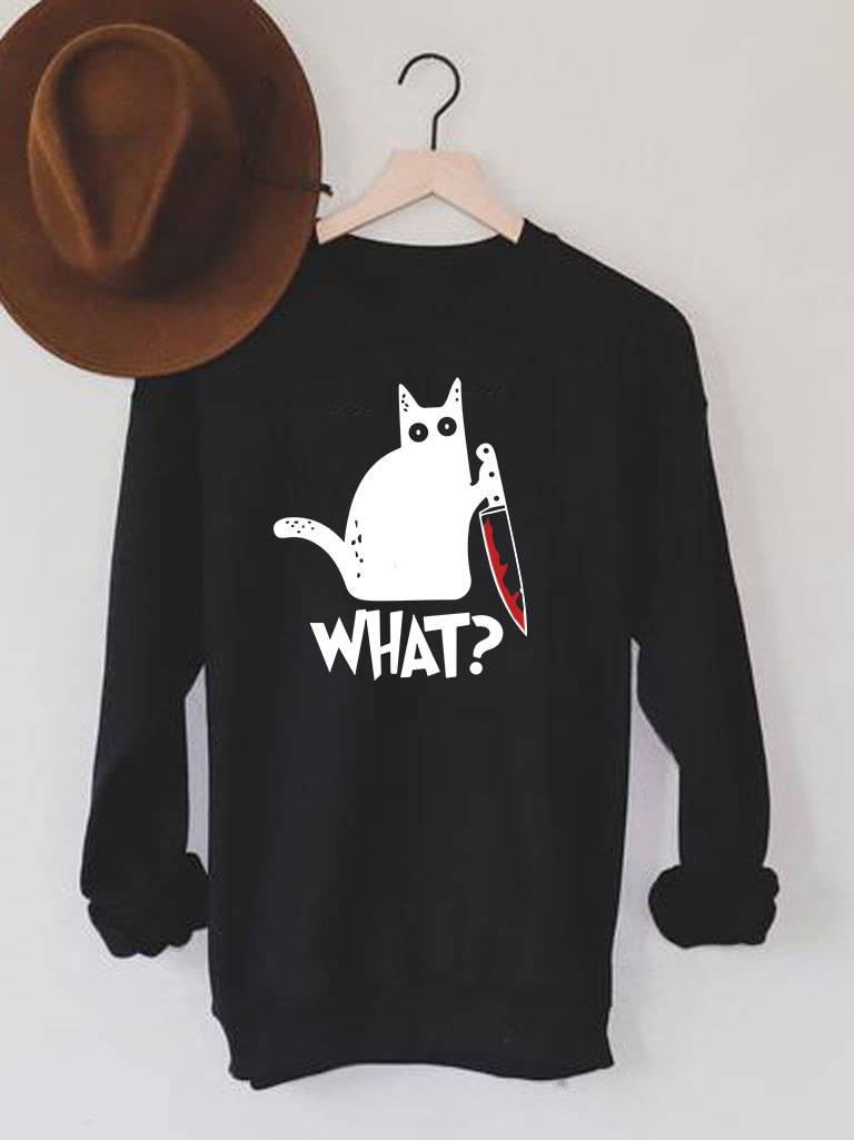 """Bluza męska w kolorze czarnym Cat Says """"What?"""" Love&Live"""