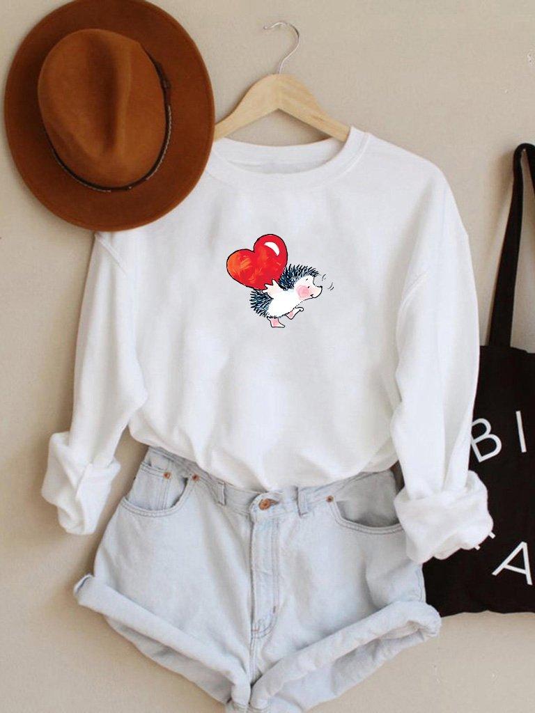 Bluza w kolorze białym Niosę Miłość Love&Live