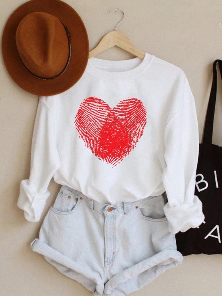 Bluza w kolorze białym Odcisk Miłości Love&Live