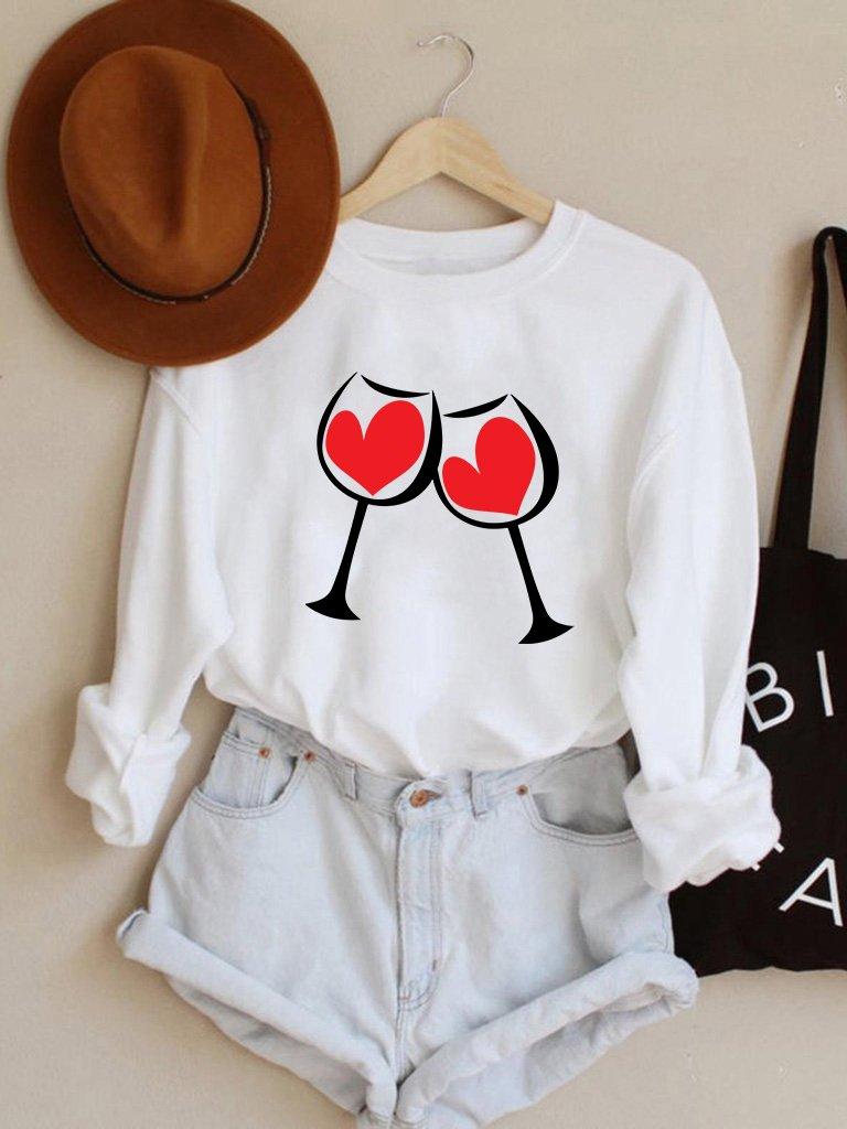 Bluza w kolorze białym Za Miłość Love&Live