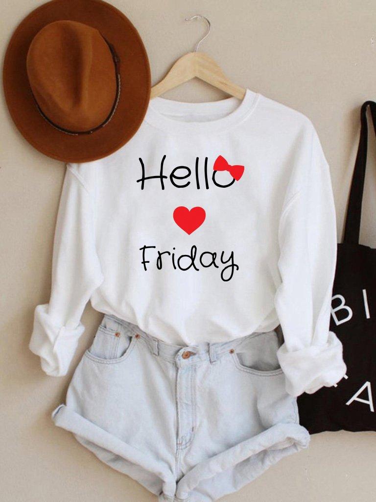 Bluza w kolorze białym Hello Friday Love&Live