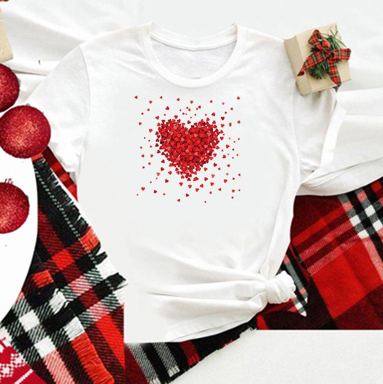 T-shirt biały dla dzieci Kawałki Miłości Love&Live