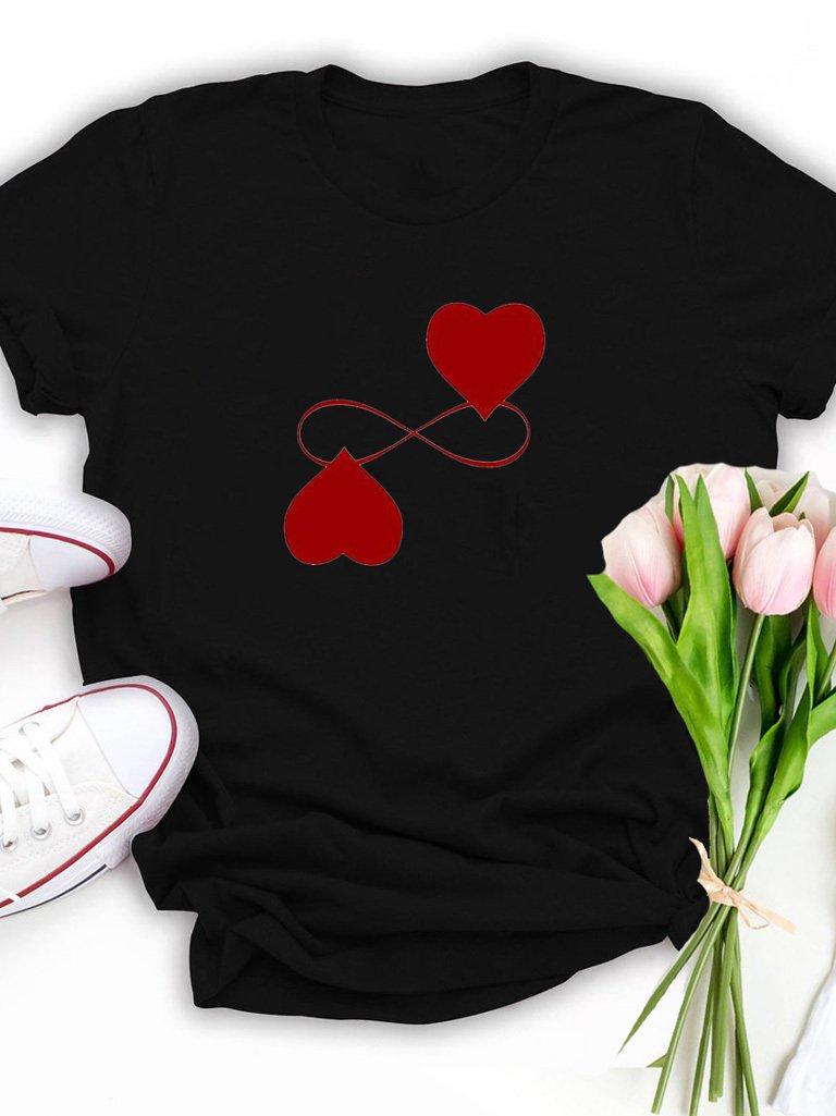 T-shirt czarny Endless Love Katarina Ivanenko
