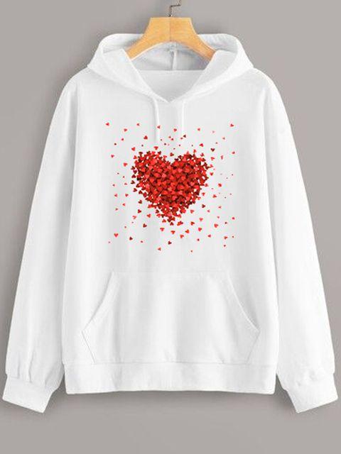Bluza z kapturem w kolorze białym Kawałki Miłości Love&Live