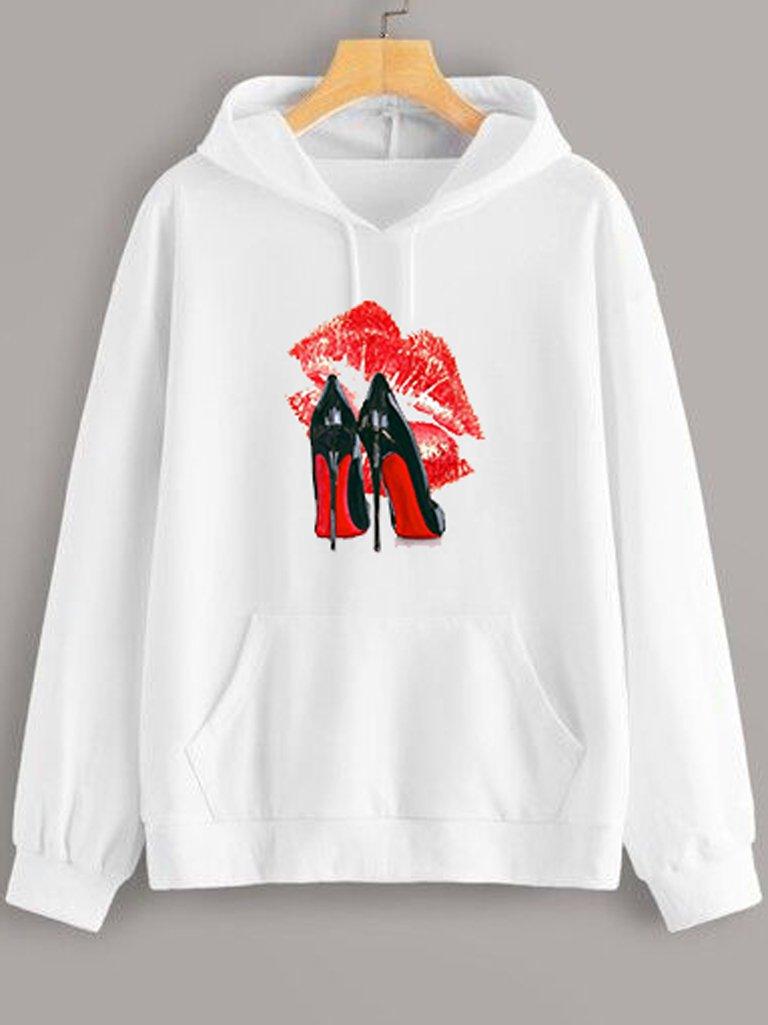 Bluza z kapturem w kolorze białym Louboutin Love&Live