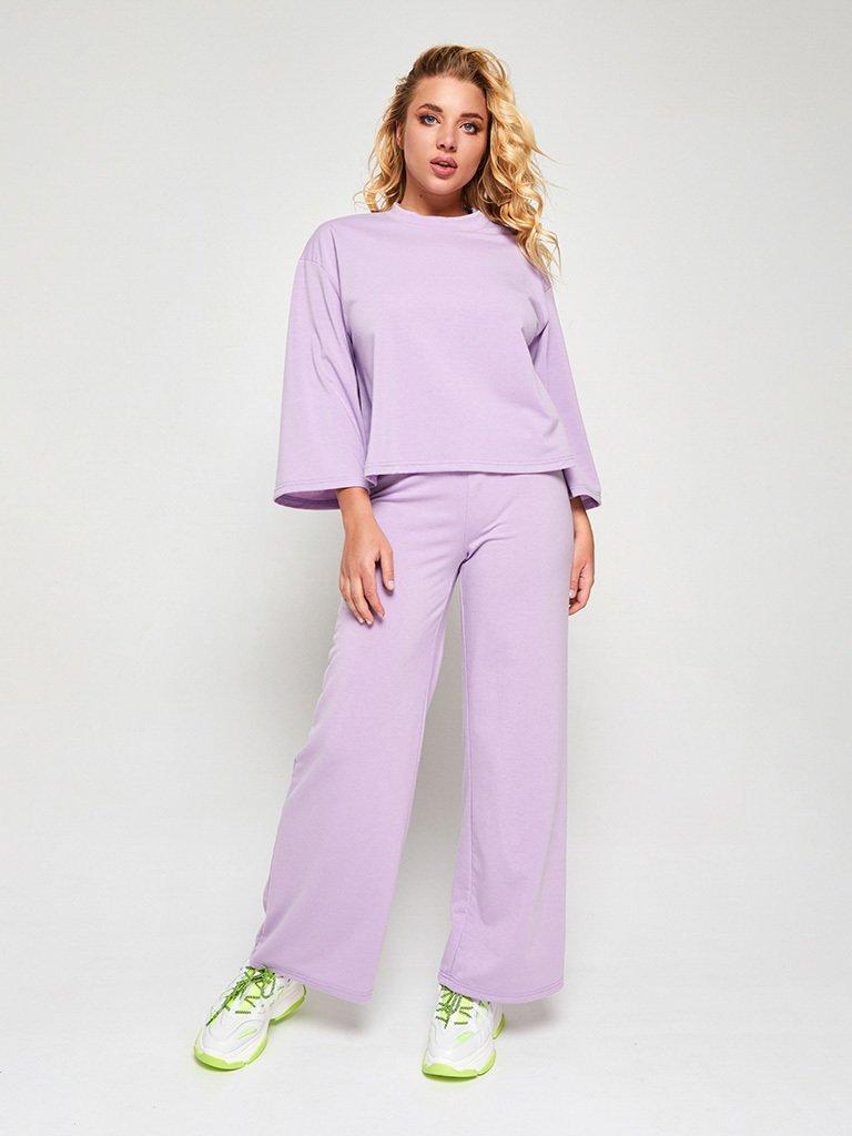 Zestaw w kolorze fioletowym (bluza, joggery) Love&Live