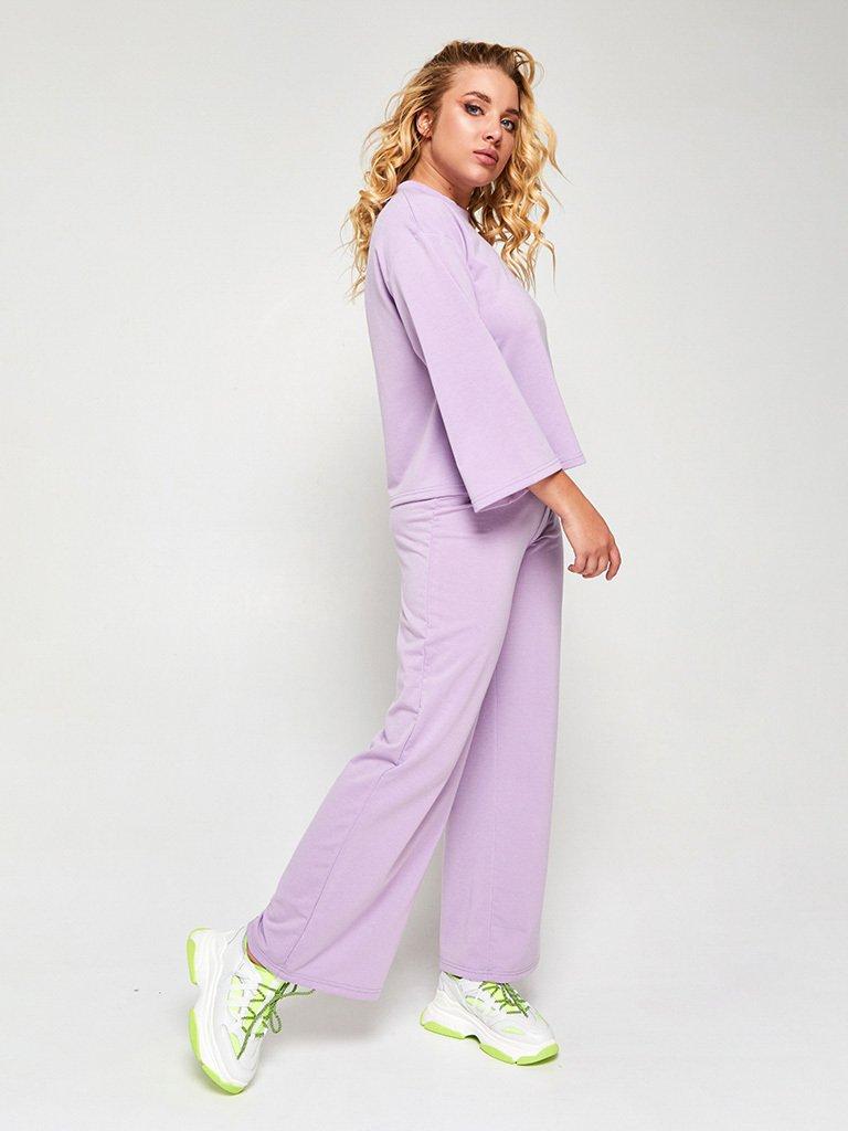 Zestaw w kolorze fioletowym (bluza, joggery) Love&Live (zdjęcie 2)
