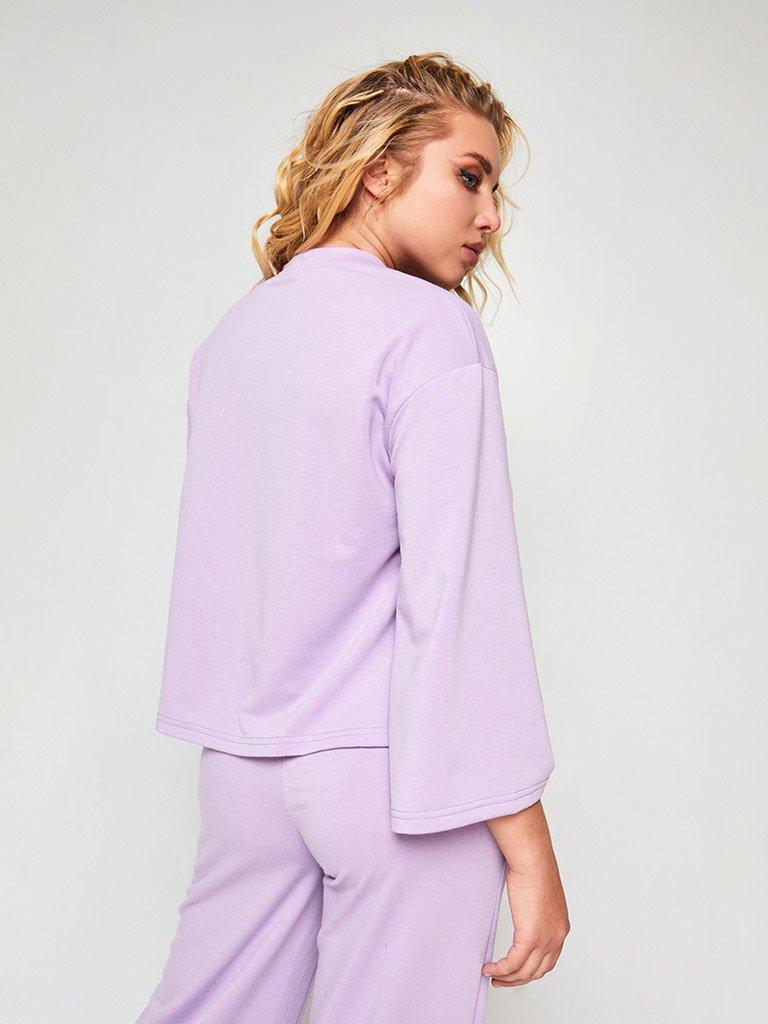Zestaw w kolorze fioletowym (bluza, joggery) Love&Live (zdjęcie 3)