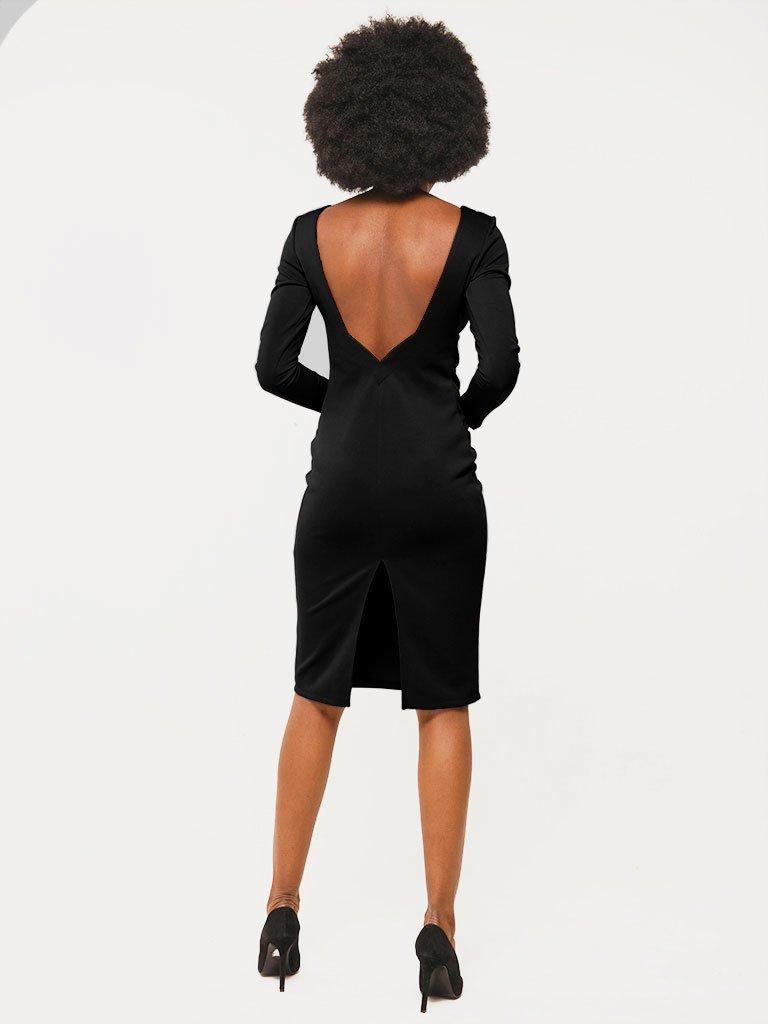 Sukienka w kolorze czarnym z odkrytymi plecami Katarina Ivanenko (zdjęcie 2)