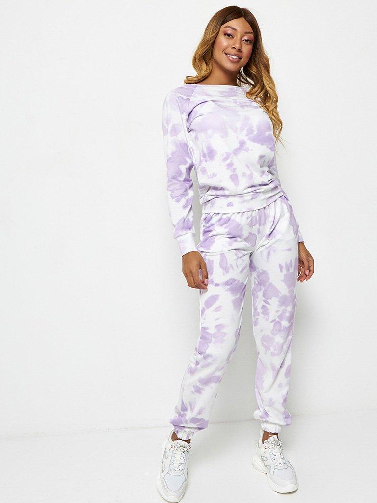Bluza fioletowa z nadrukiem tie-dye Katarina Ivanenko