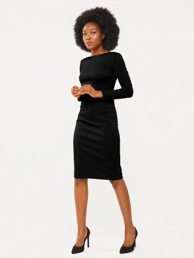 Sukienka w kolorze czarnym z odkrytymi plecami Katarina Ivanenko