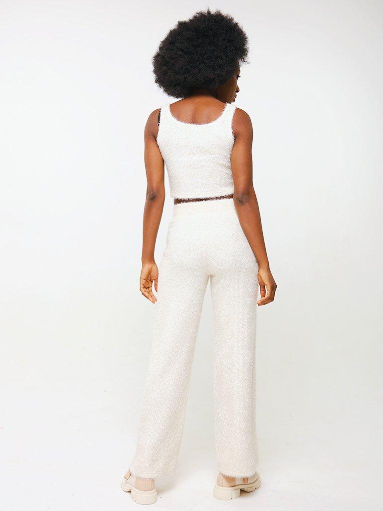 Spodnie w kolorze mlecznym Katarina Ivanenko (zdjęcie 3)