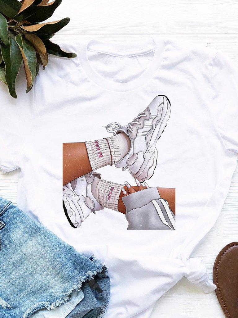 T-shirt biały Be Kind Love&Live