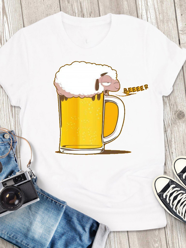 T-shirt męski biały Beeeer Love&Live
