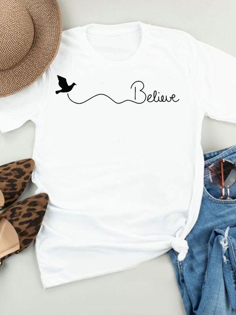 T-shirt biały Believe LOVE&LIVE