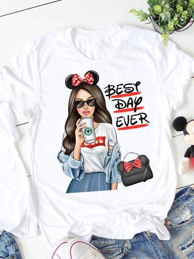 T-shirt biały Best Day Ever ZUZU
