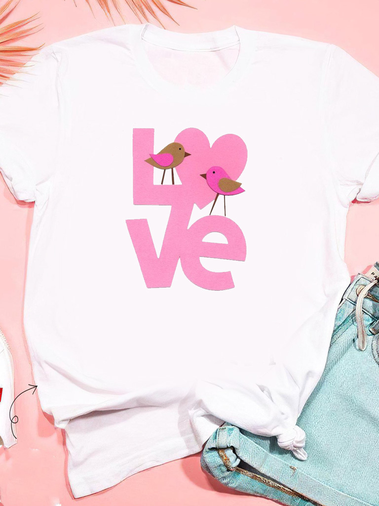 T-shirt biały Birds Love ZUZU
