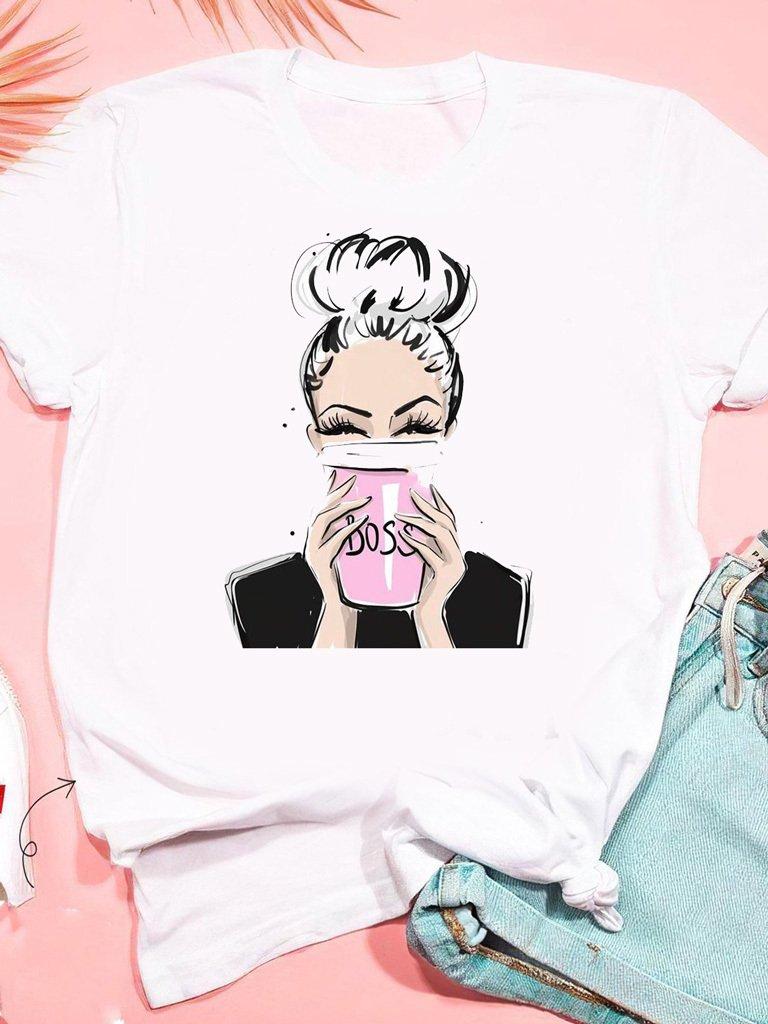 T-shirt biały Cup Boss ZUZU