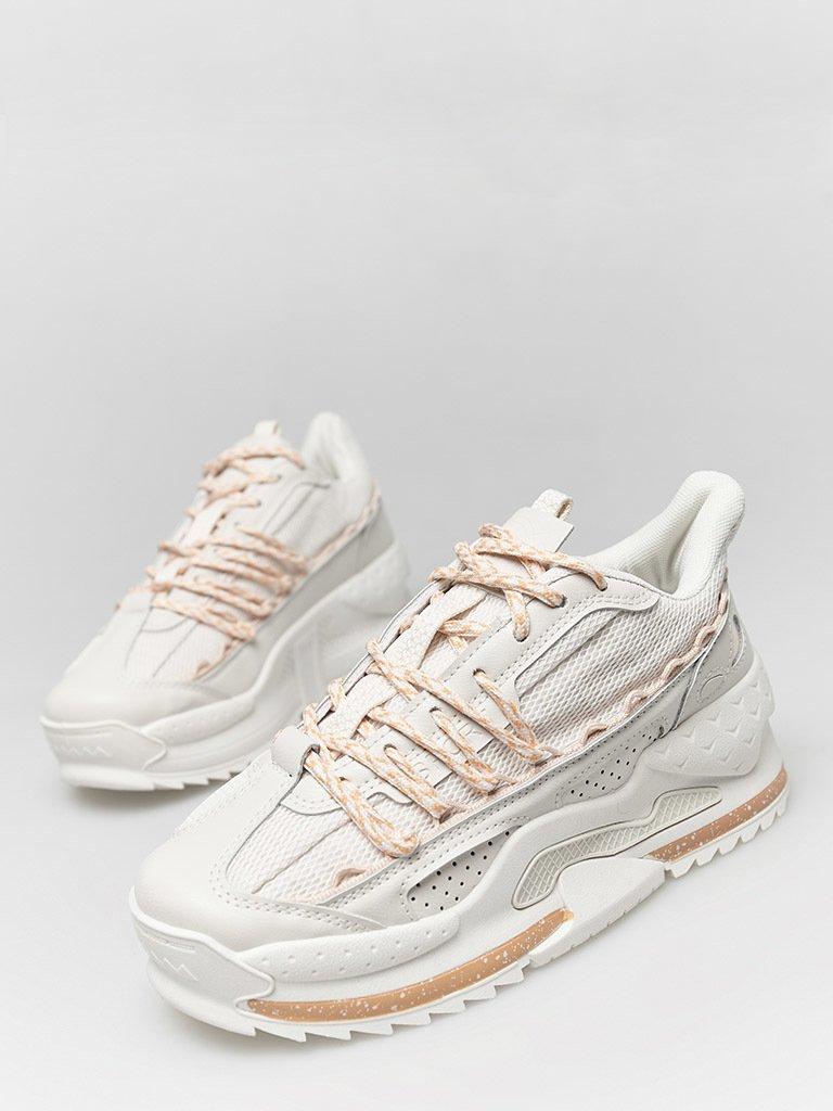 Białe buty sportowe z kontrastowymi sznurówkami ZUZU