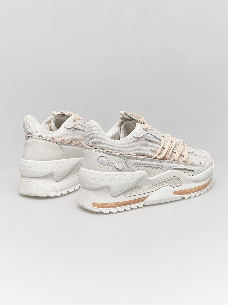 Białe buty sportowe z kontrastowymi sznurówkami ZUZU (zdjęcie 4)