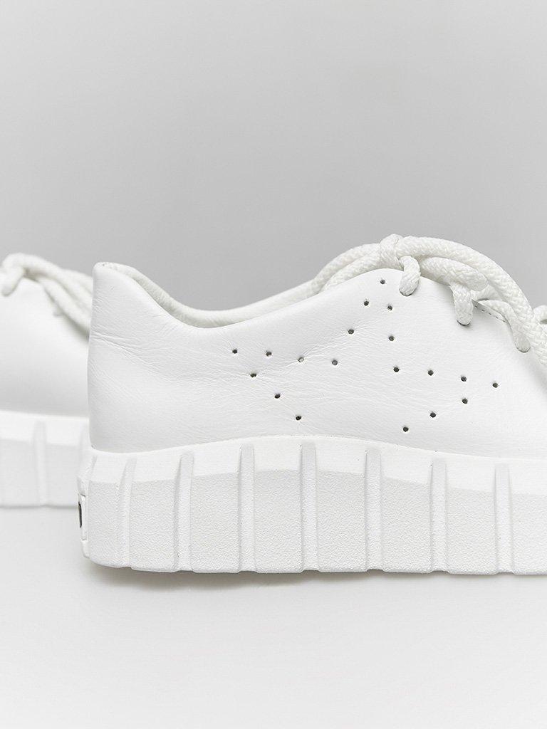Białe skórzane buty sportowe z grubą podeszwą Love&Live (zdjęcie 3)