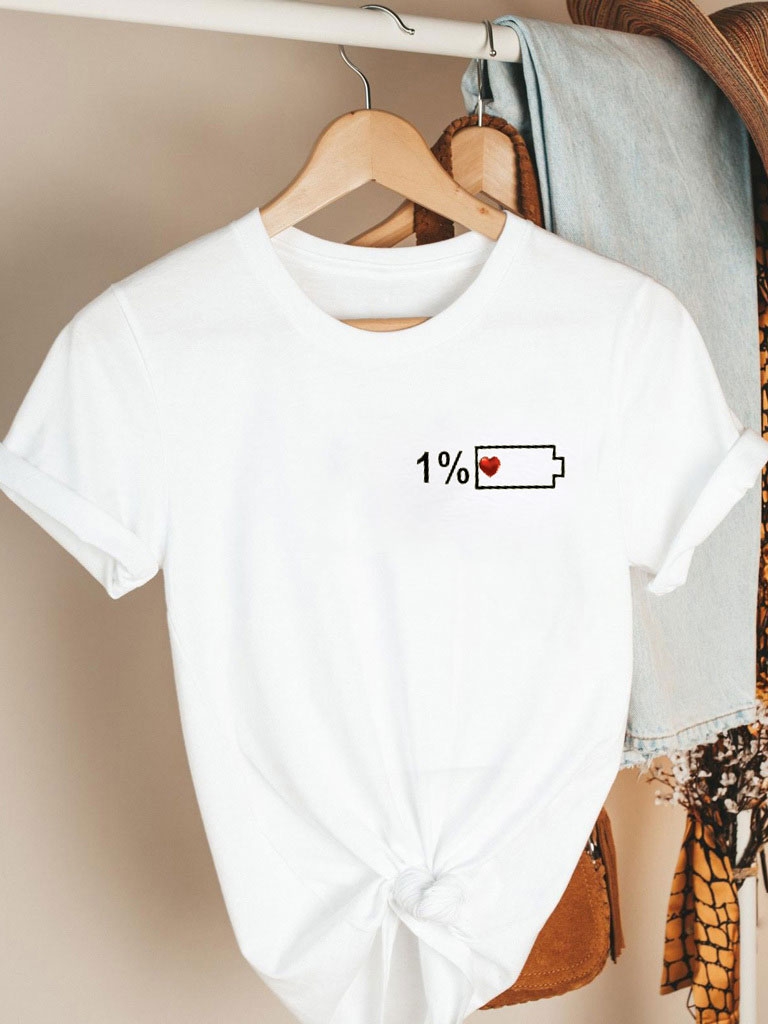 T-shirt biały 1% Miłości Katarina Ivanenko