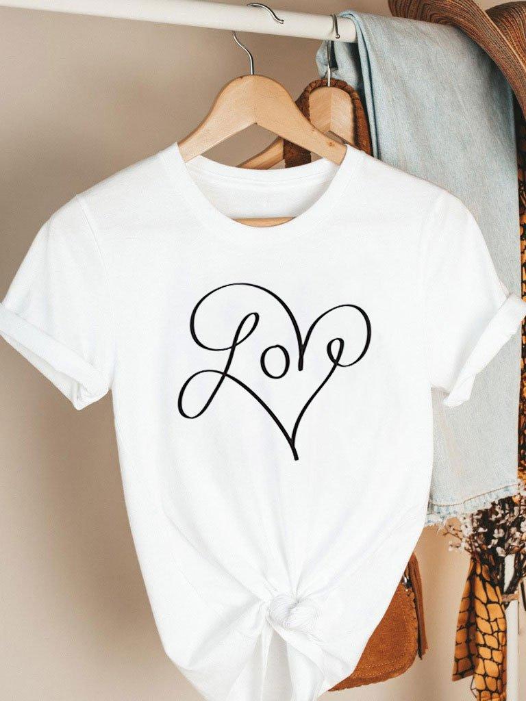 T-shirt biały My Heart Katarina Ivanenko