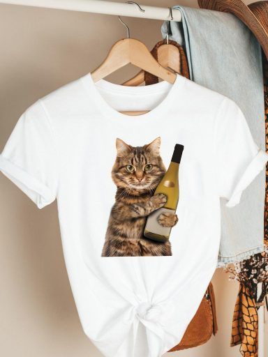 T-shirt biały Mood Katarina Ivanenko