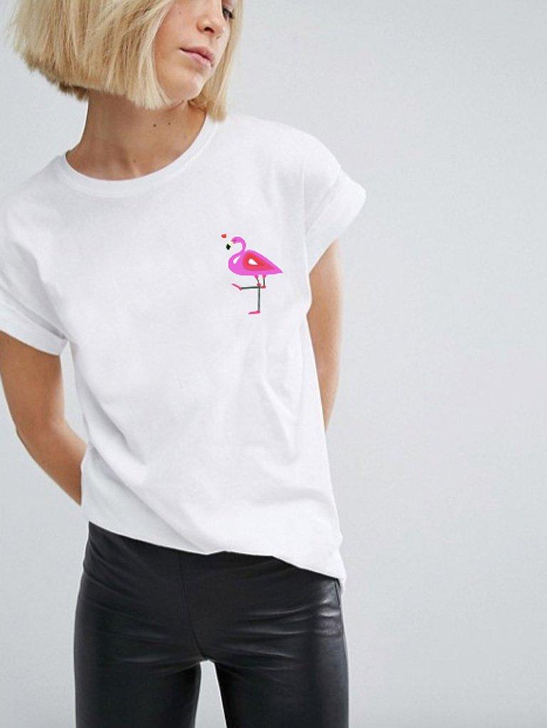 T-shirt biały Flaming Katarina Ivanenko
