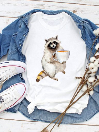 T-shirt biały Coffeeman Love&Live